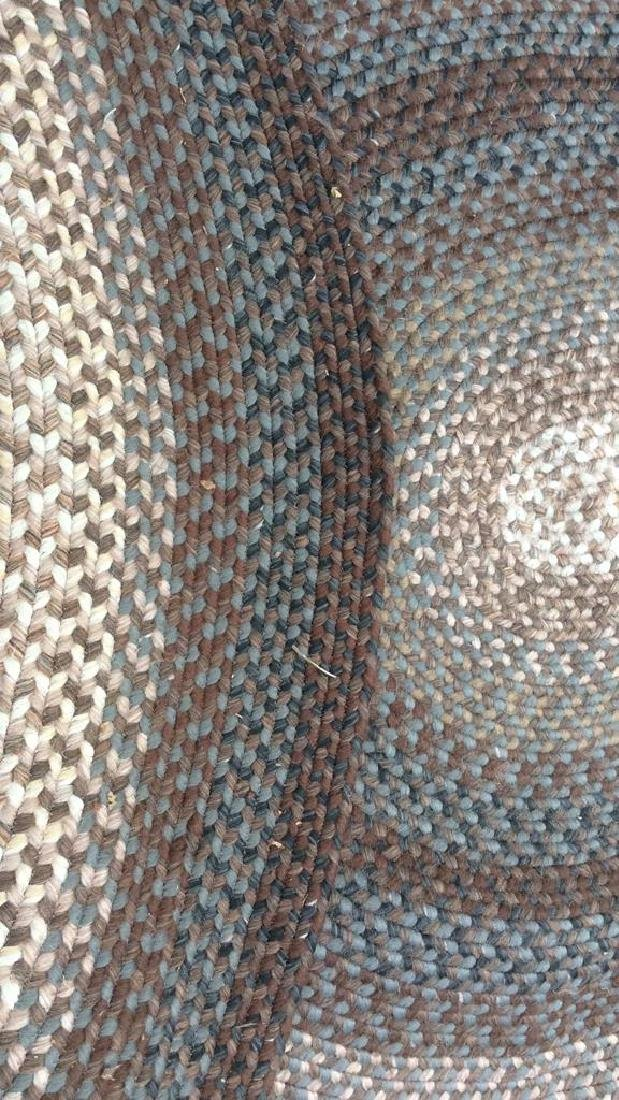 Braided Vintage Oval Rug - 9
