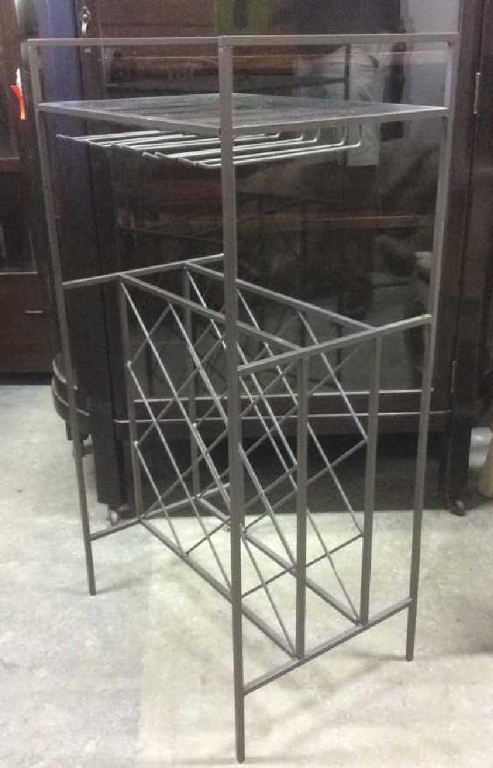 Metal Wine Rack W Glass Top Shelf - 2