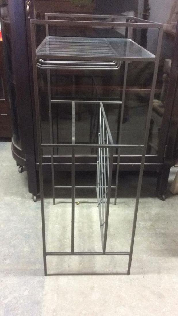 Metal Wine Rack W Glass Top Shelf - 3