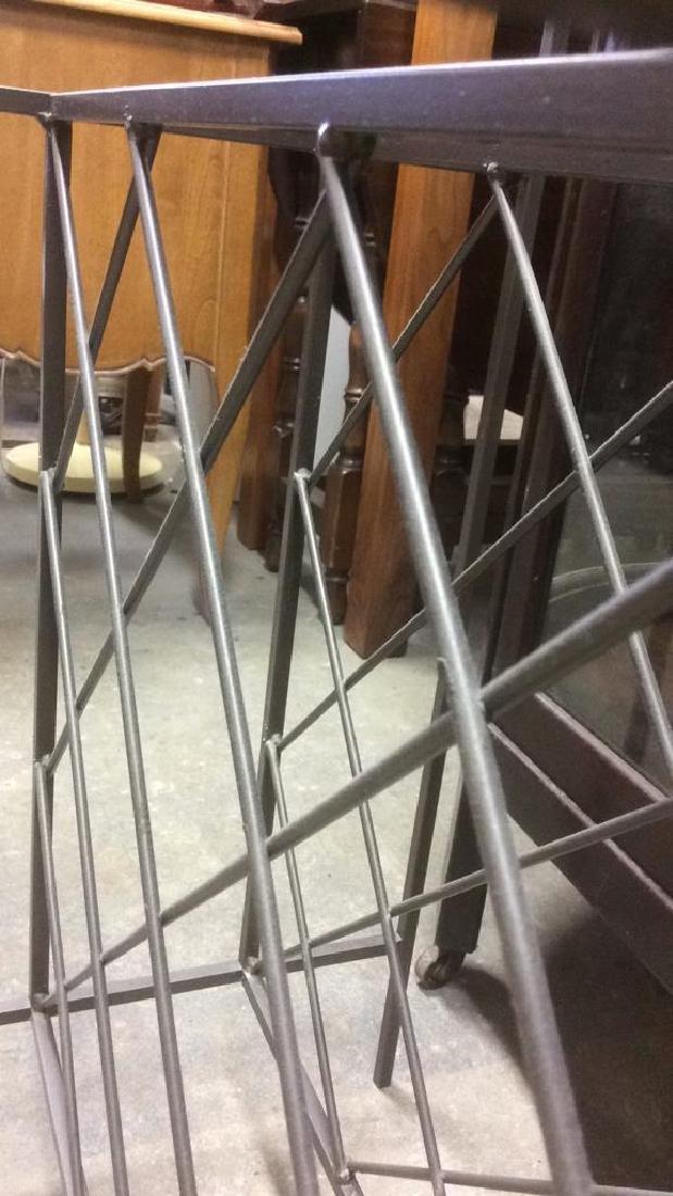 Metal Wine Rack W Glass Top Shelf - 5