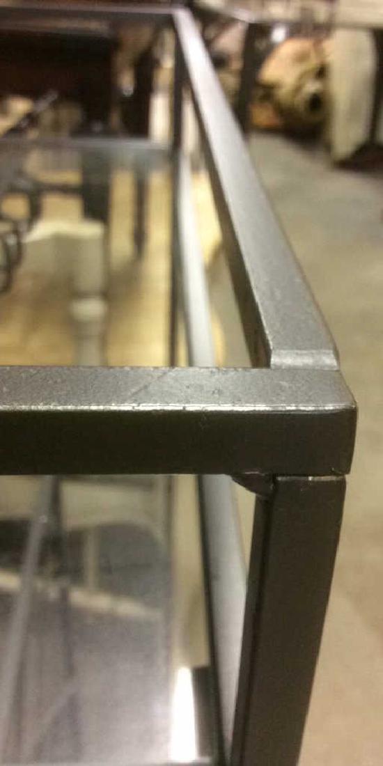 Metal Wine Rack W Glass Top Shelf - 8