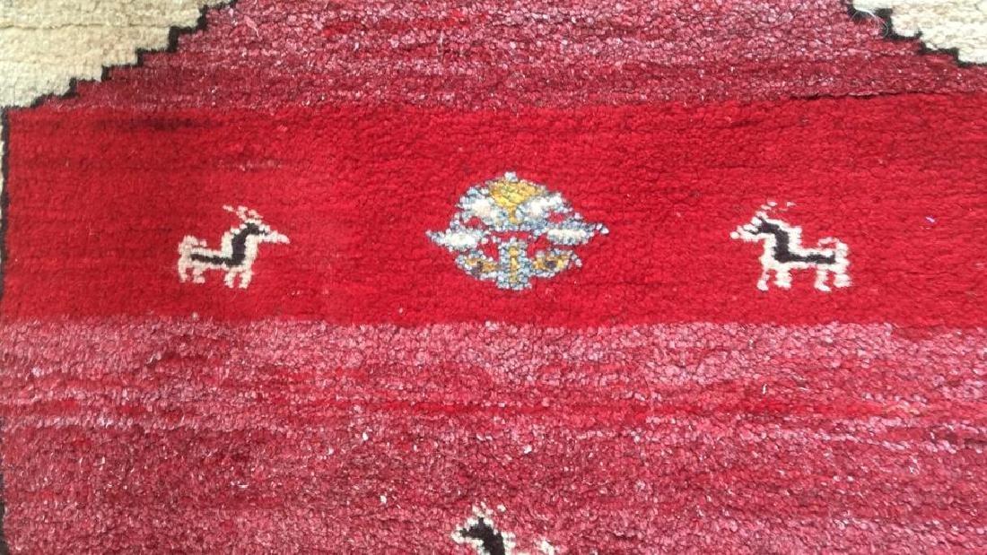 Persian Handwoven Red Cream Wool Rug