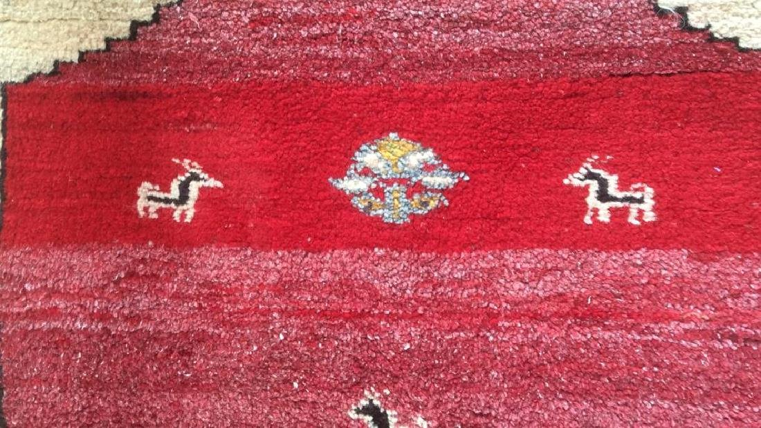 Persian Handwoven Red Cream Wool Rug