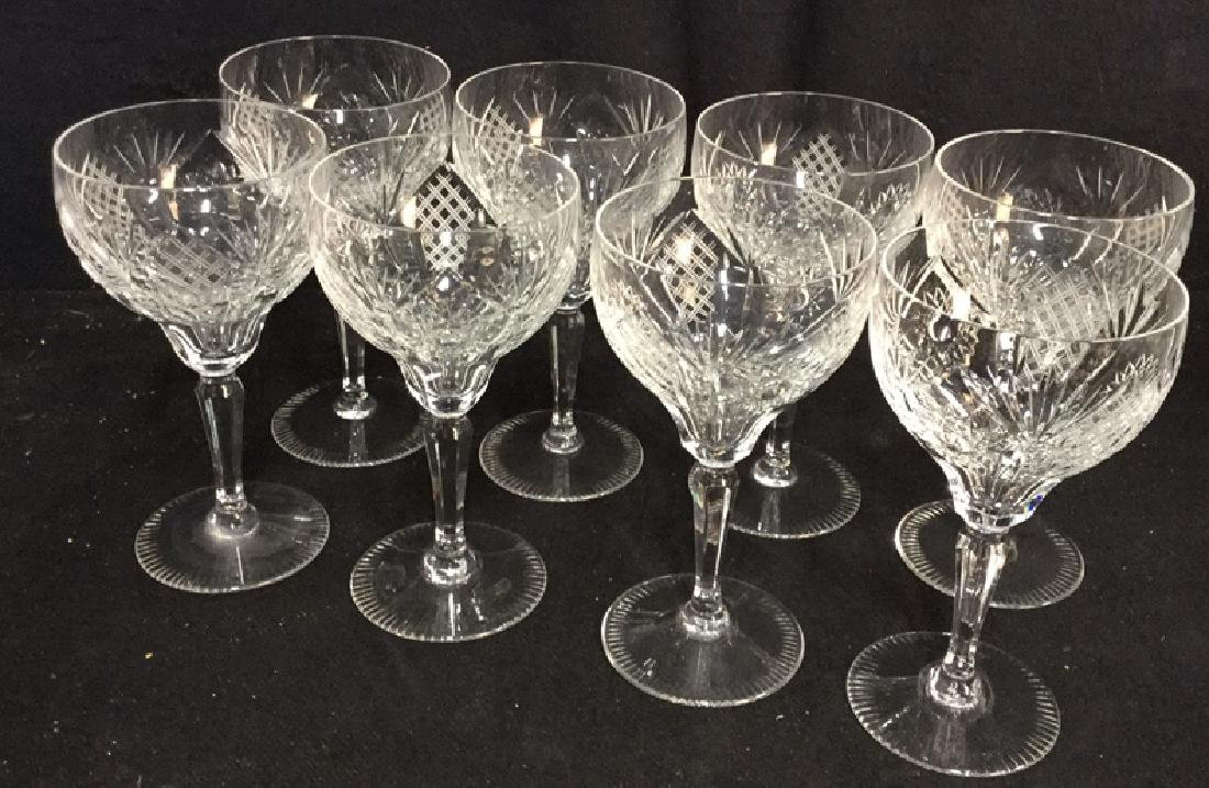 Group Lot 8 Crystal Wine Glasses