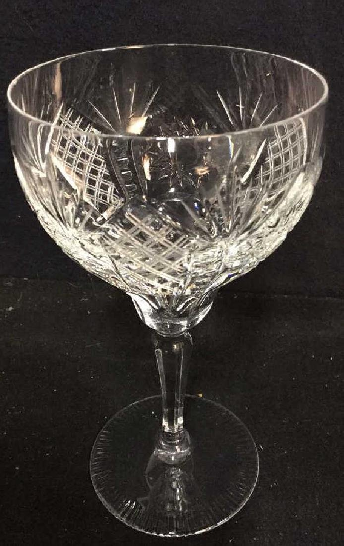 Group Lot 8 Crystal Wine Glasses - 2