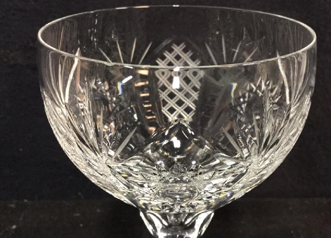 Group Lot 8 Crystal Wine Glasses - 3