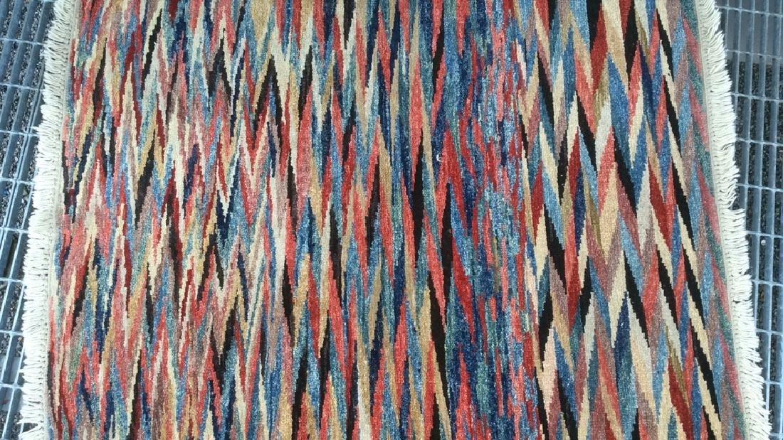 Handmade Persian Rug Zig Zag Pattern - 2