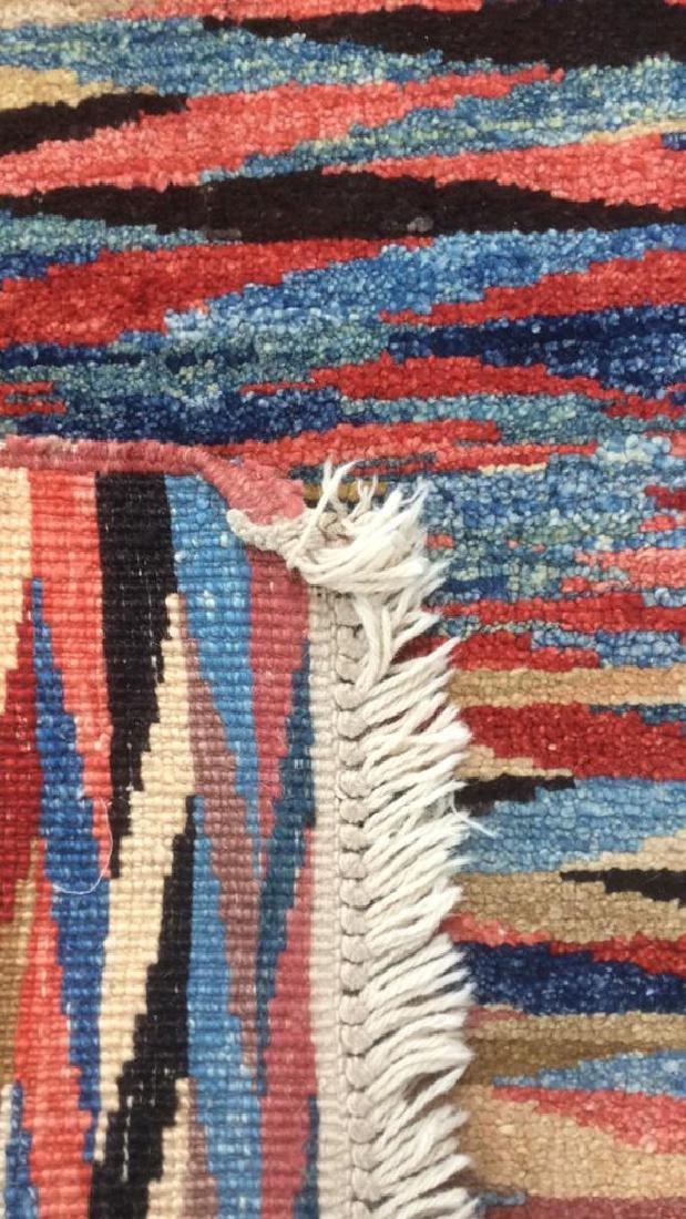 Handmade Persian Rug Zig Zag Pattern - 4