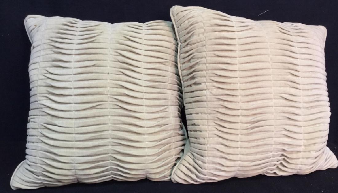 Pair Covered Down Throw Pillows