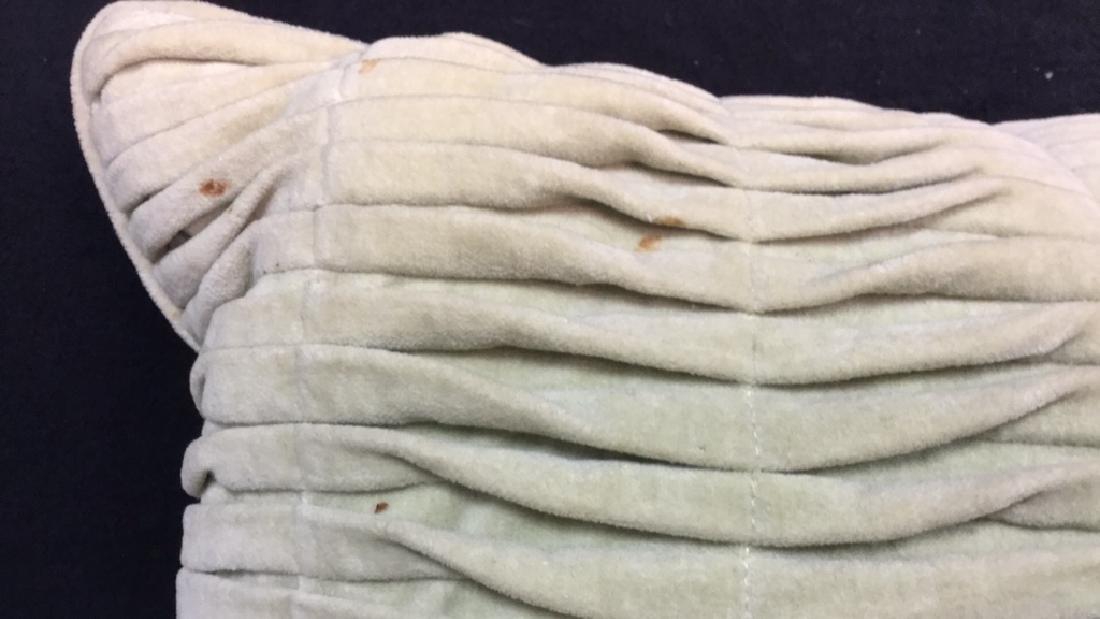 Pair Covered Down Throw Pillows - 8