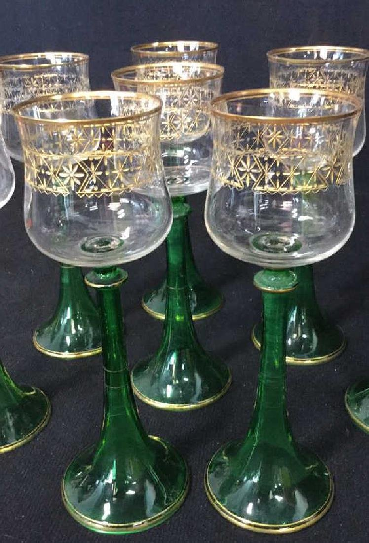 Lot 8 Vintage Middle Eastern Style Cordial Glasses - 10