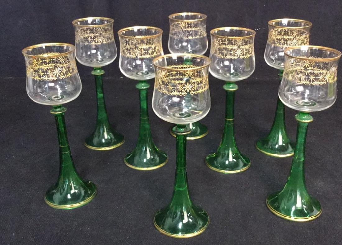 Lot 8 Vintage Middle Eastern Style Cordial Glasses