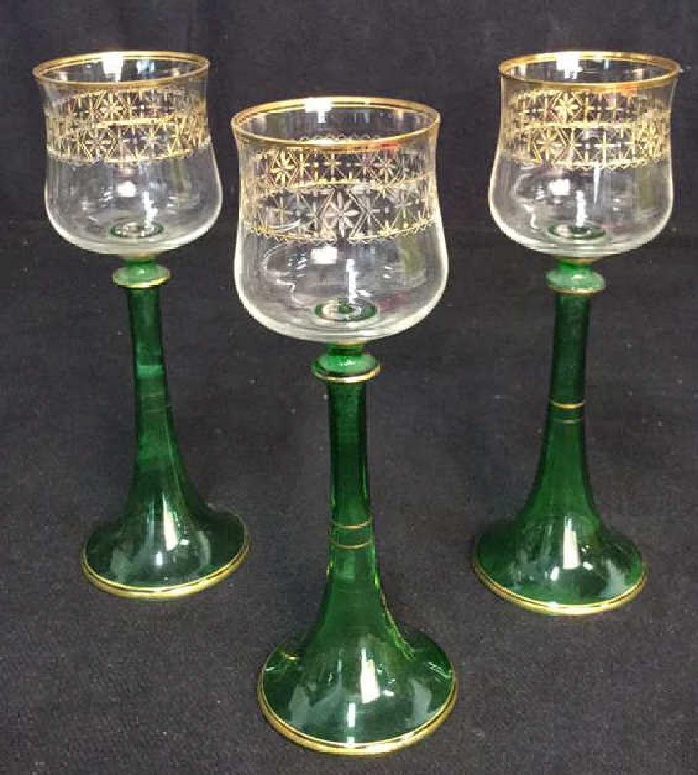 Lot 8 Vintage Middle Eastern Style Cordial Glasses - 8