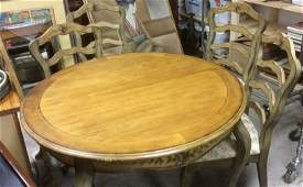 VIntage Painted Dining Set Table w Chairs