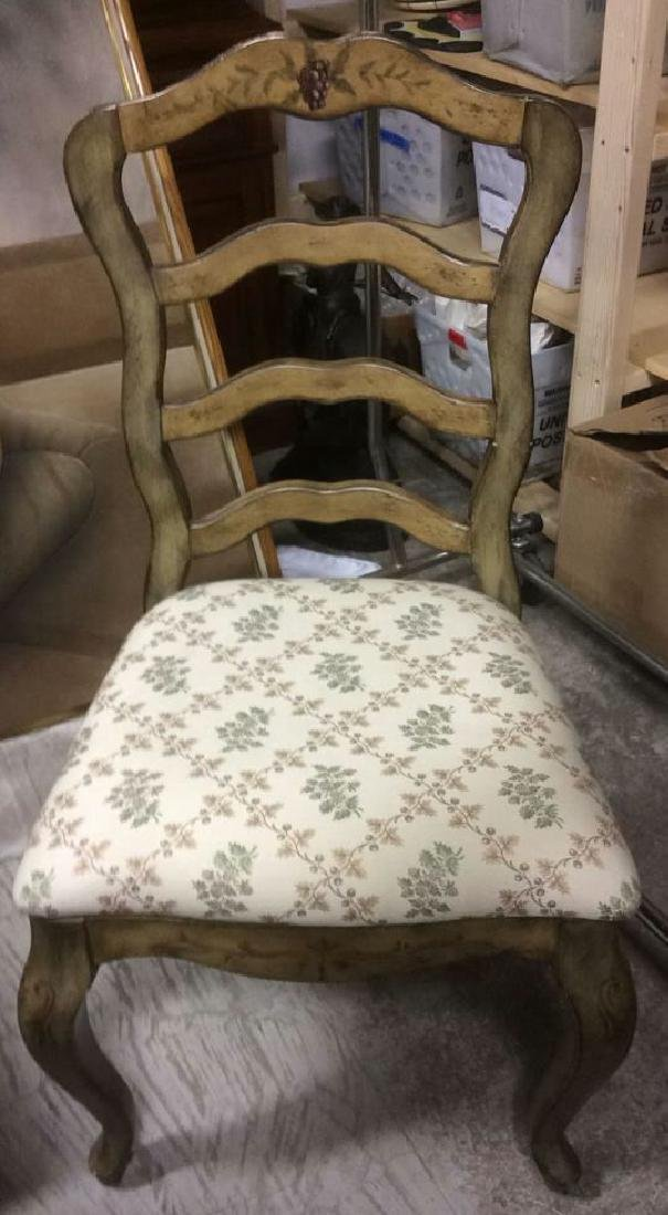VIntage Painted Dining Set Table w Chairs - 3