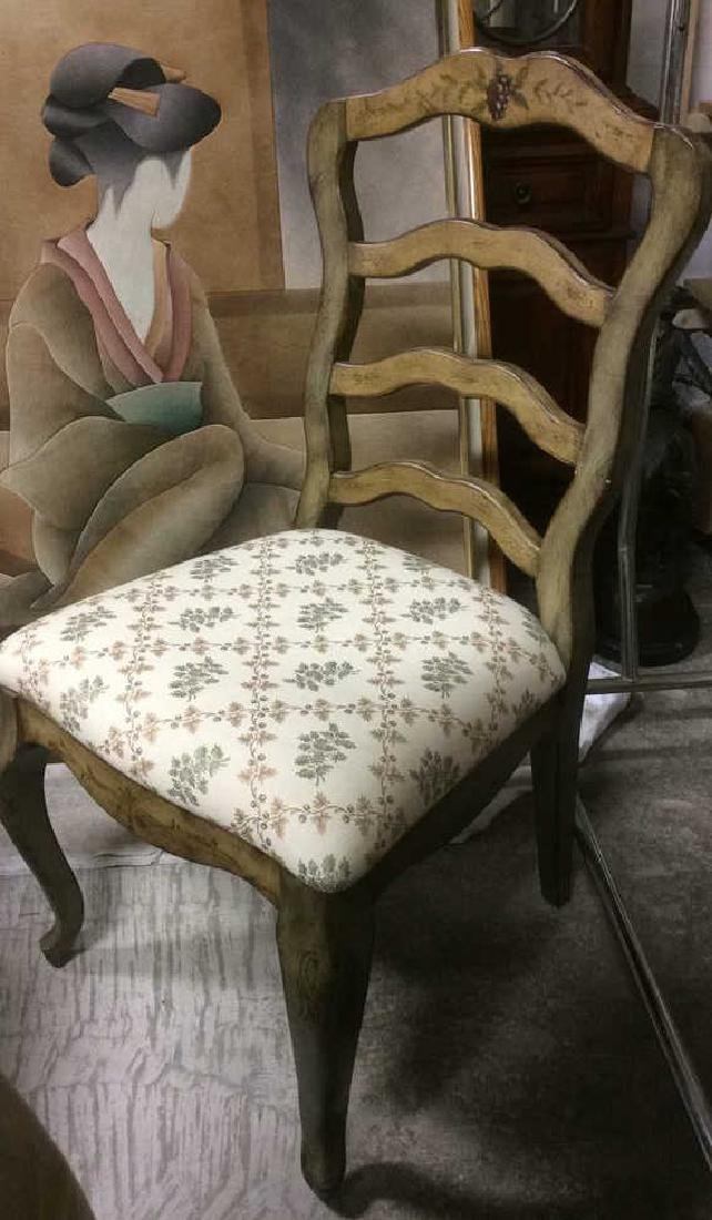 VIntage Painted Dining Set Table w Chairs - 4