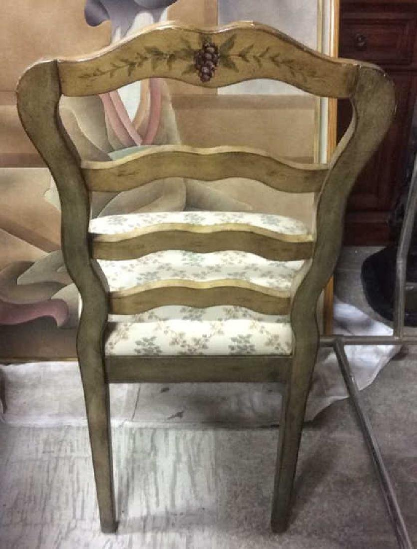 VIntage Painted Dining Set Table w Chairs - 6
