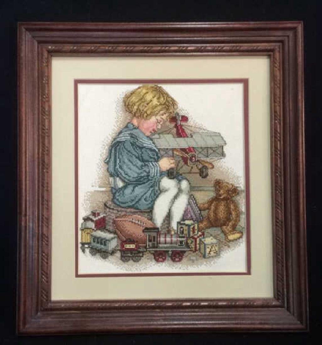 Framed Needlepoint Artwork