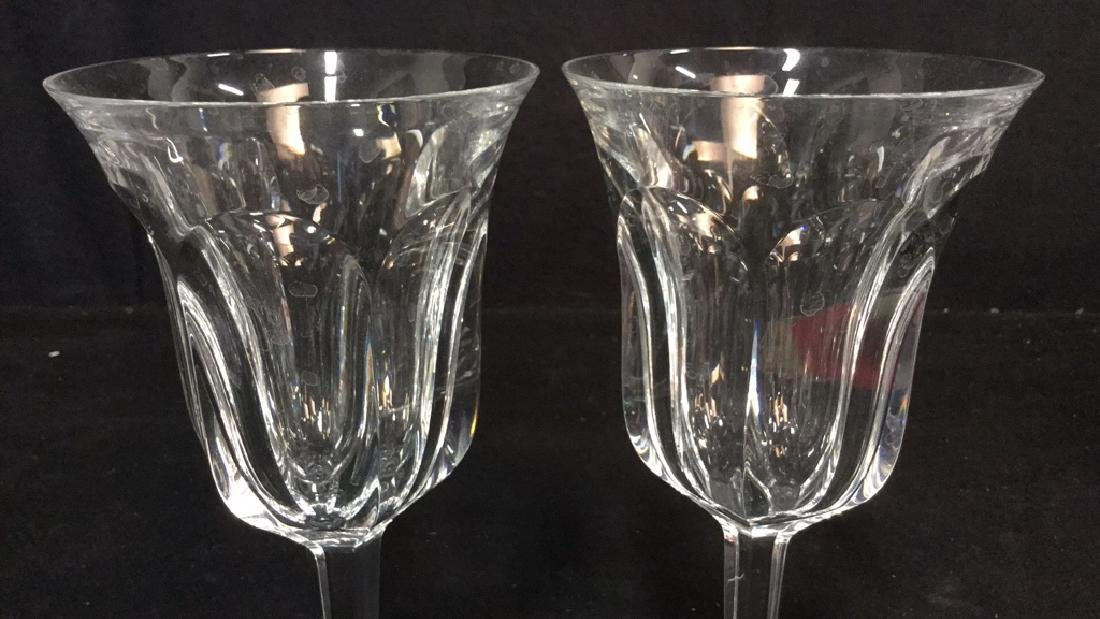 Pair Signed Baccarat Crystal Wine Glasses - 6