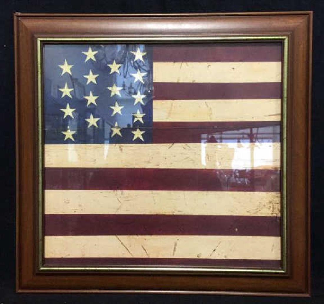 WARREN KIMBLE 1990 American Flag Artwork