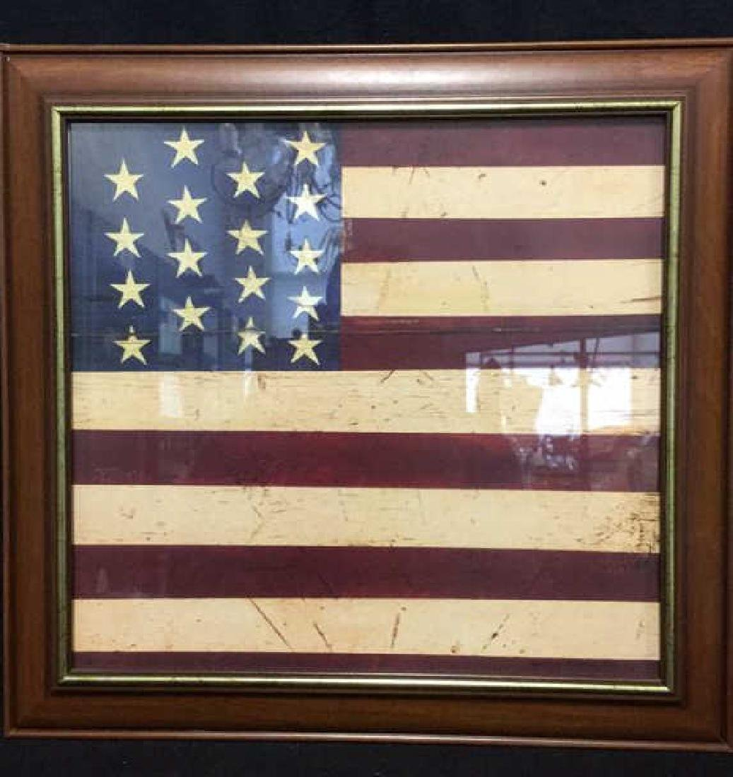 WARREN KIMBLE 1990 American Flag Artwork - 2