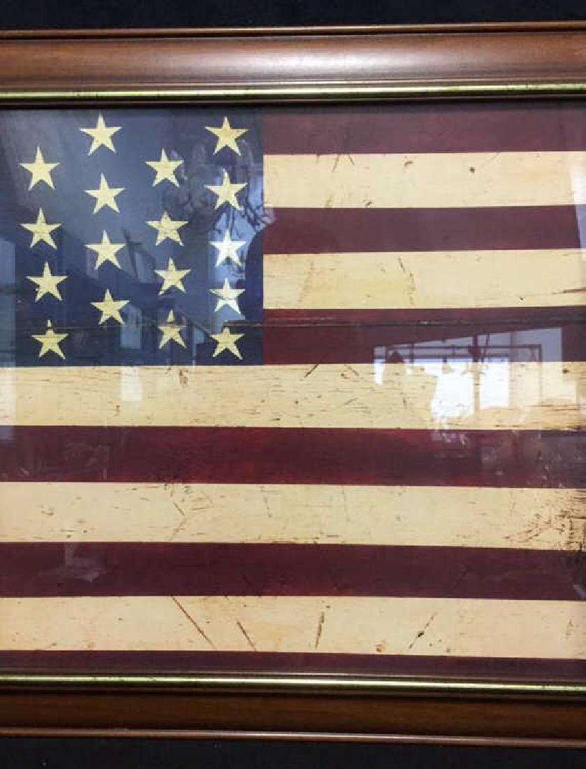 WARREN KIMBLE 1990 American Flag Artwork - 3
