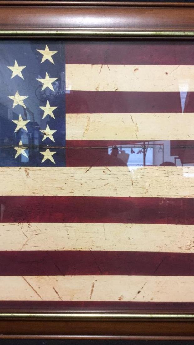 WARREN KIMBLE 1990 American Flag Artwork - 4