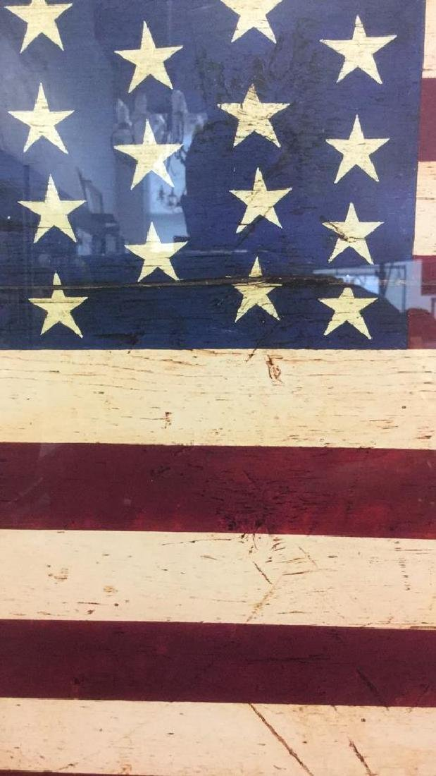 WARREN KIMBLE 1990 American Flag Artwork - 5