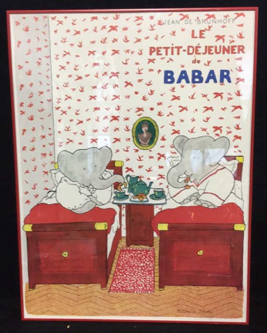 JEAN DE BRUNHOFF LE PETIT DEJEUNER DE BABAR