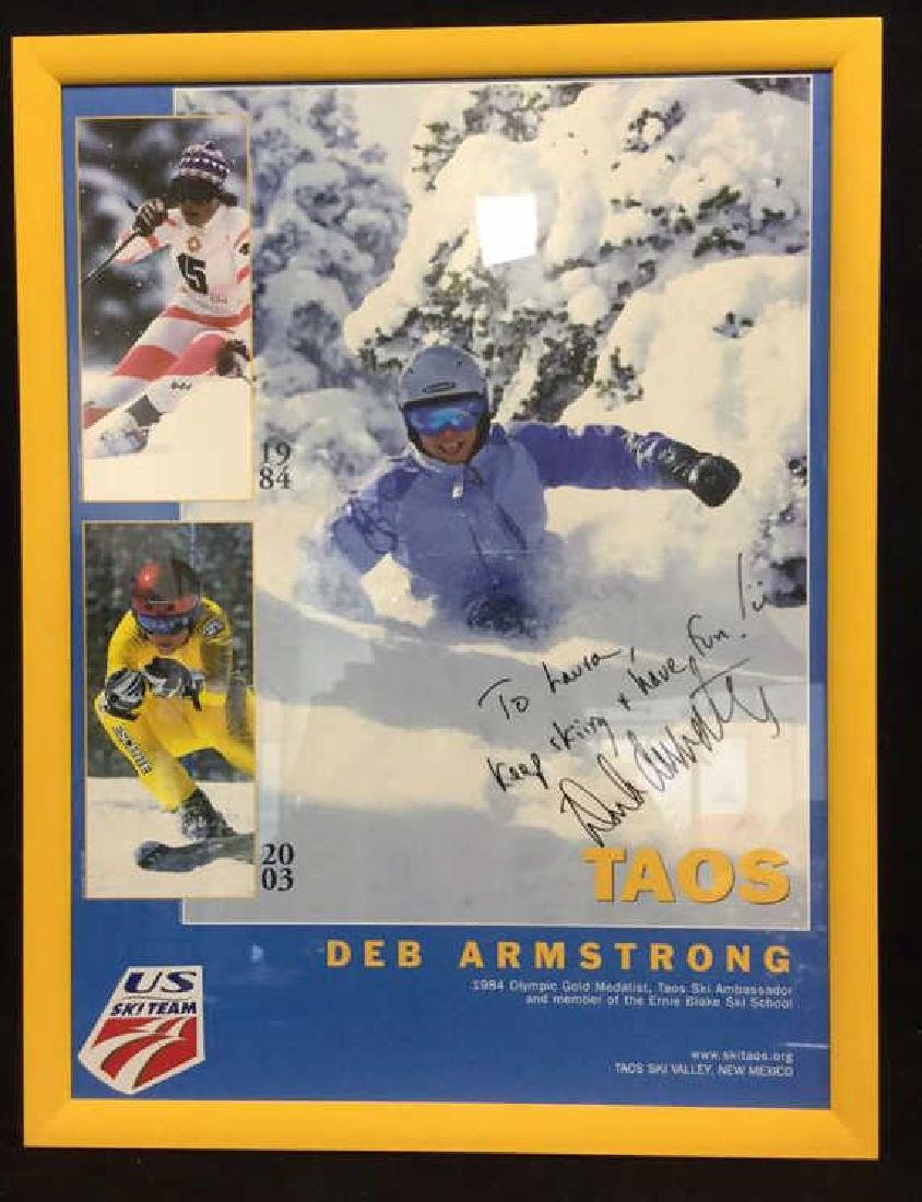 DEB ARMSTRONG Signed US Ski TeeamPoster
