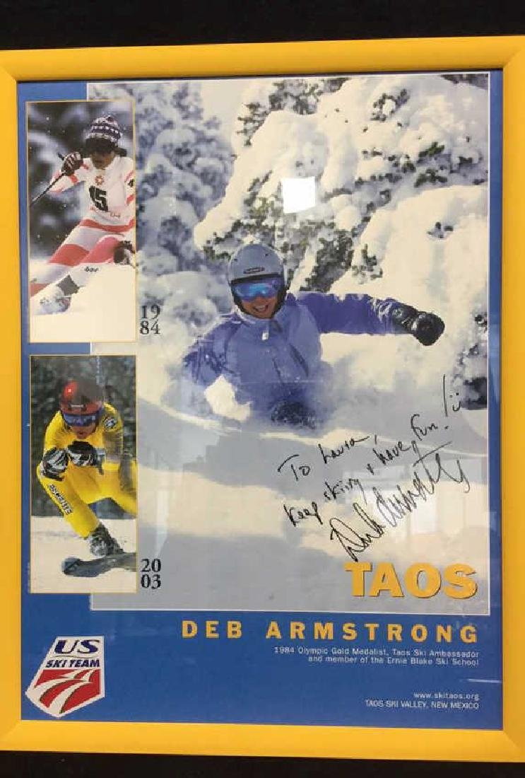 DEB ARMSTRONG Signed US Ski TeeamPoster - 2