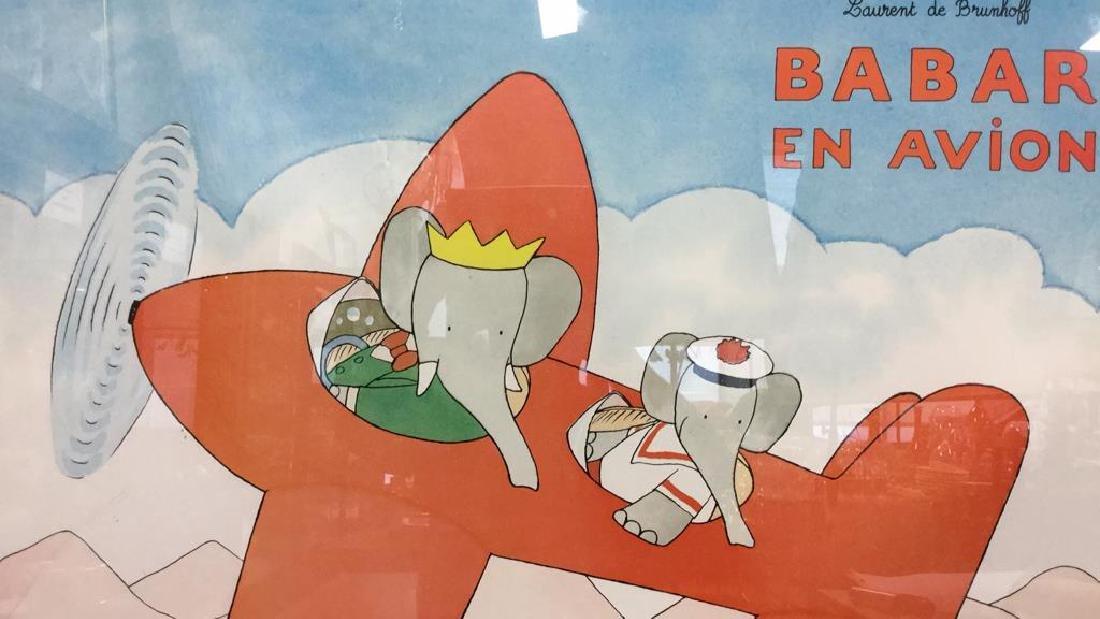 LAURENT DE BRUNHOFF BABAR EN AVION Poster - 3