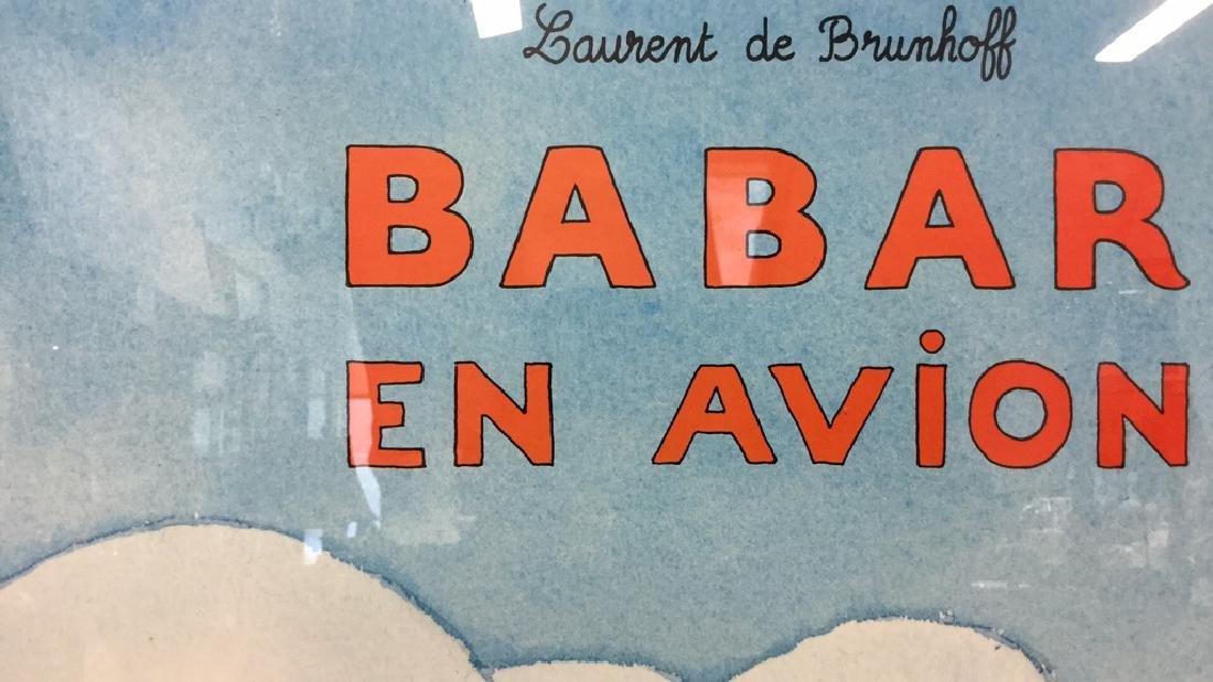 LAURENT DE BRUNHOFF BABAR EN AVION Poster - 8