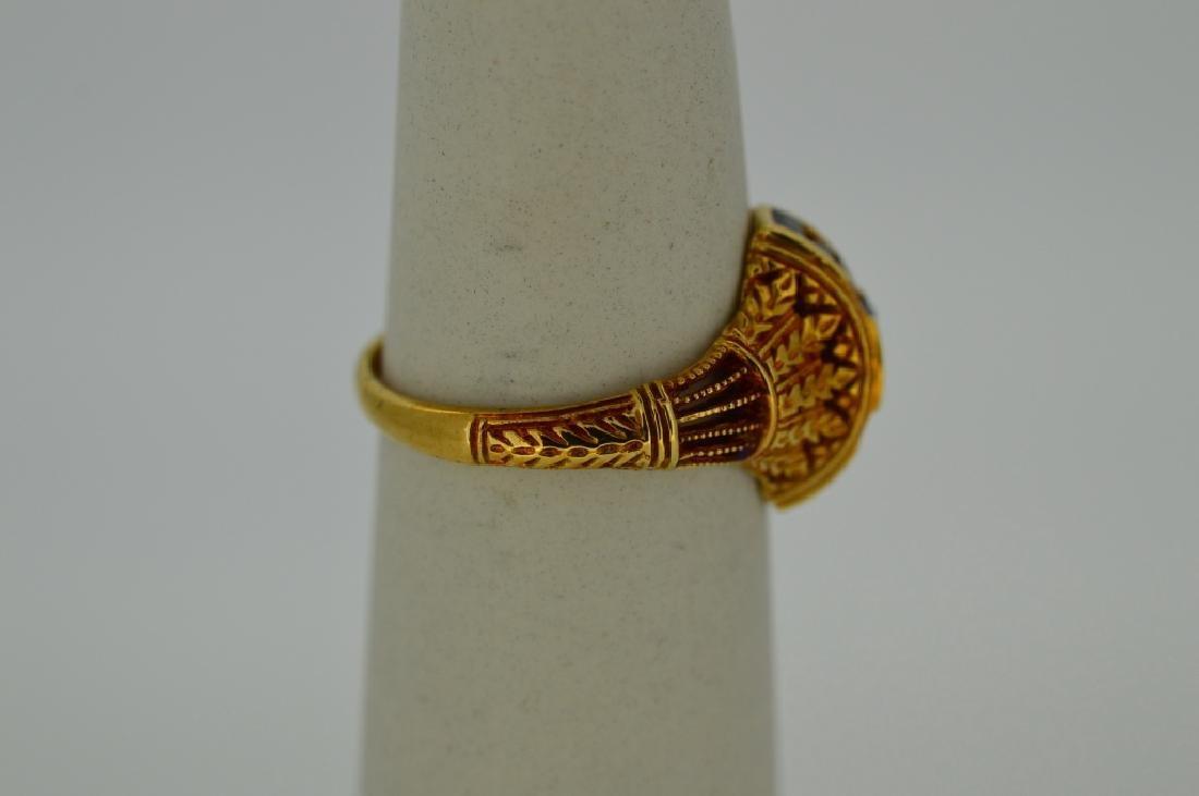 Ladies18k Yellow Gold,Sapphire & Diamond Ring - 2