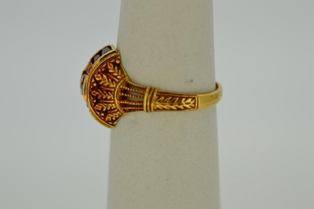 Ladies18k Yellow Gold,Sapphire & Diamond Ring - 3
