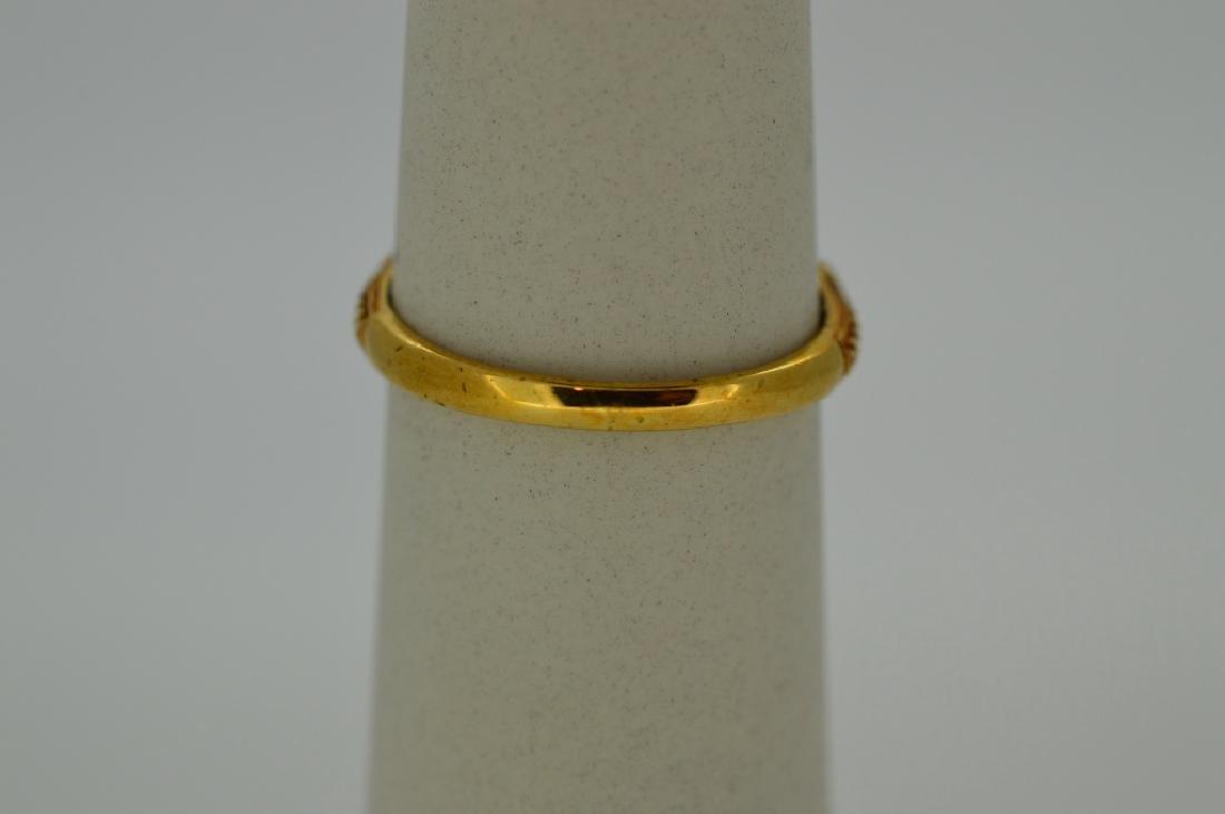Ladies18k Yellow Gold,Sapphire & Diamond Ring - 4