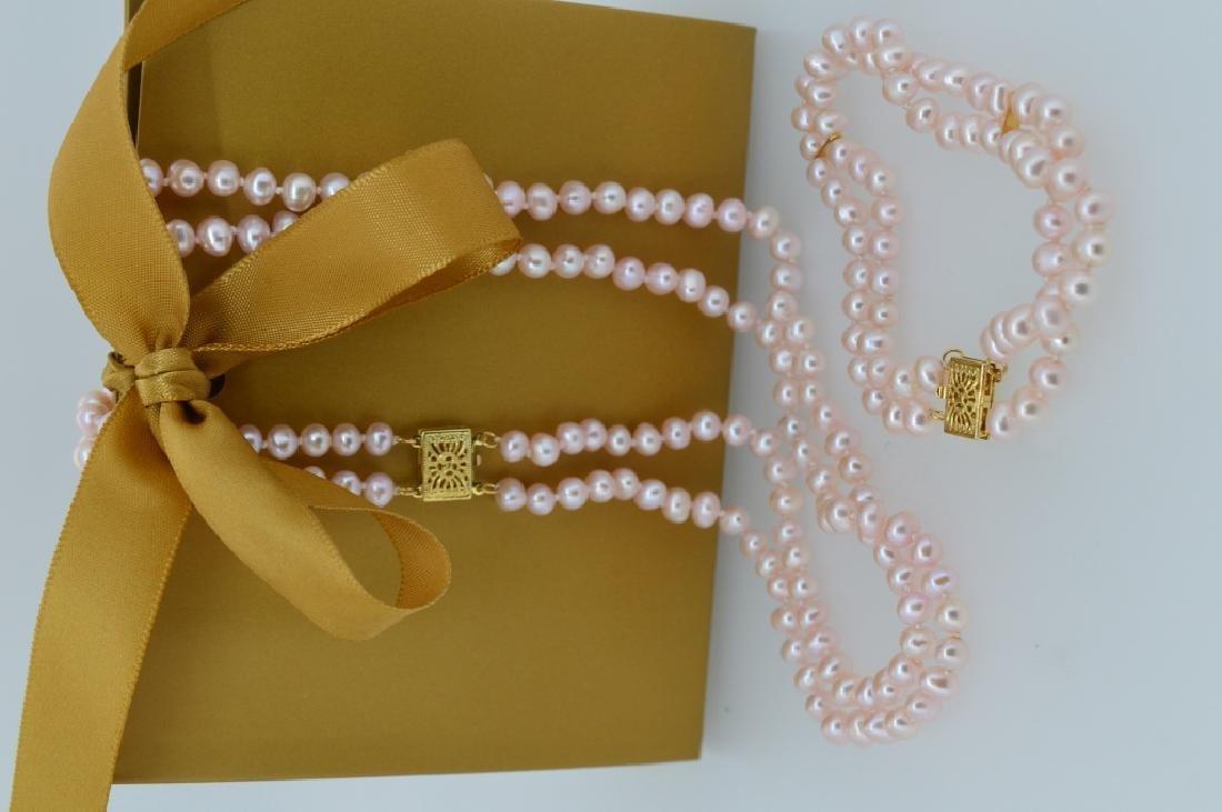 Pretty inPink Pearl Necklace & Bracelet Set