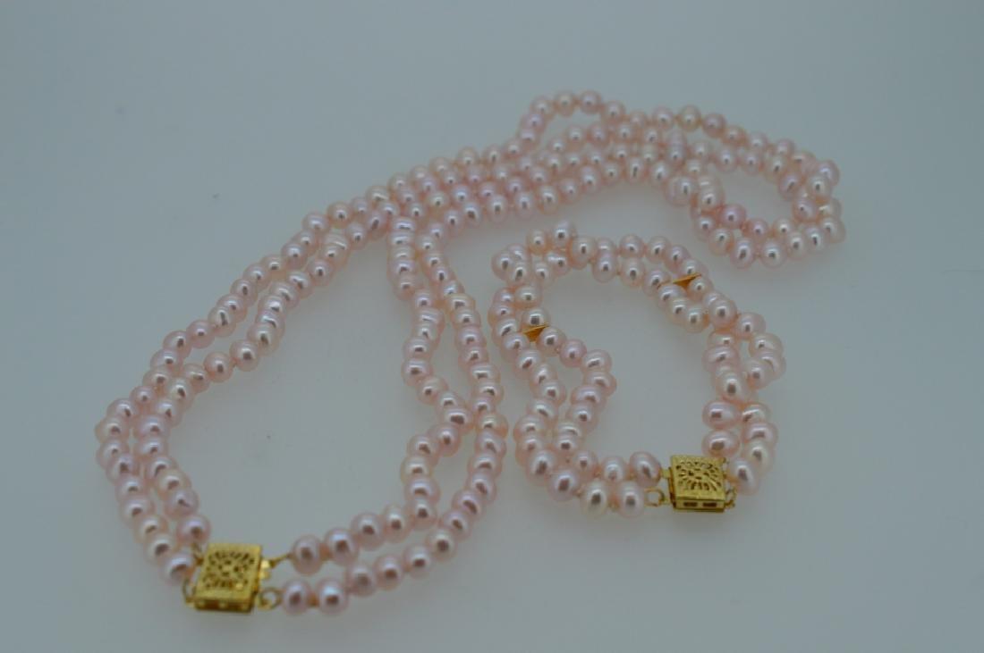 Pretty inPink Pearl Necklace & Bracelet Set - 2