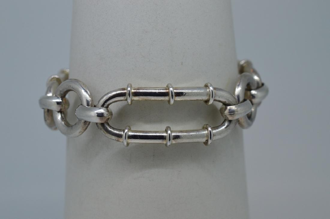 """Ladies 7.25"""" Silver Plated Bracelet - 2"""