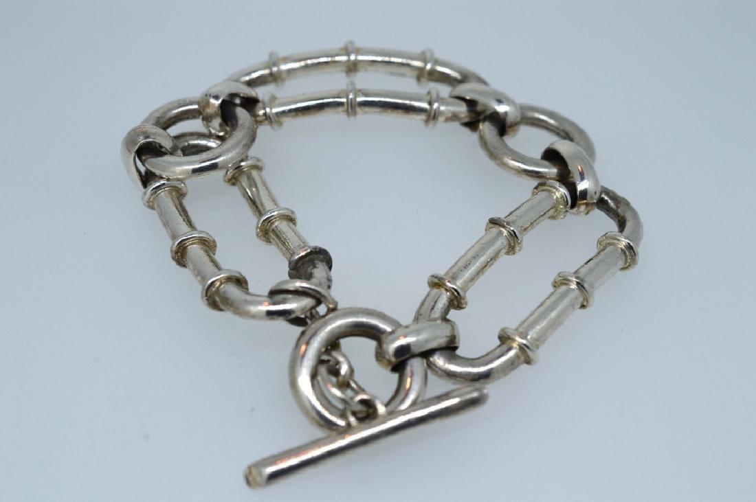 """Ladies 7.25"""" Silver Plated Bracelet - 3"""