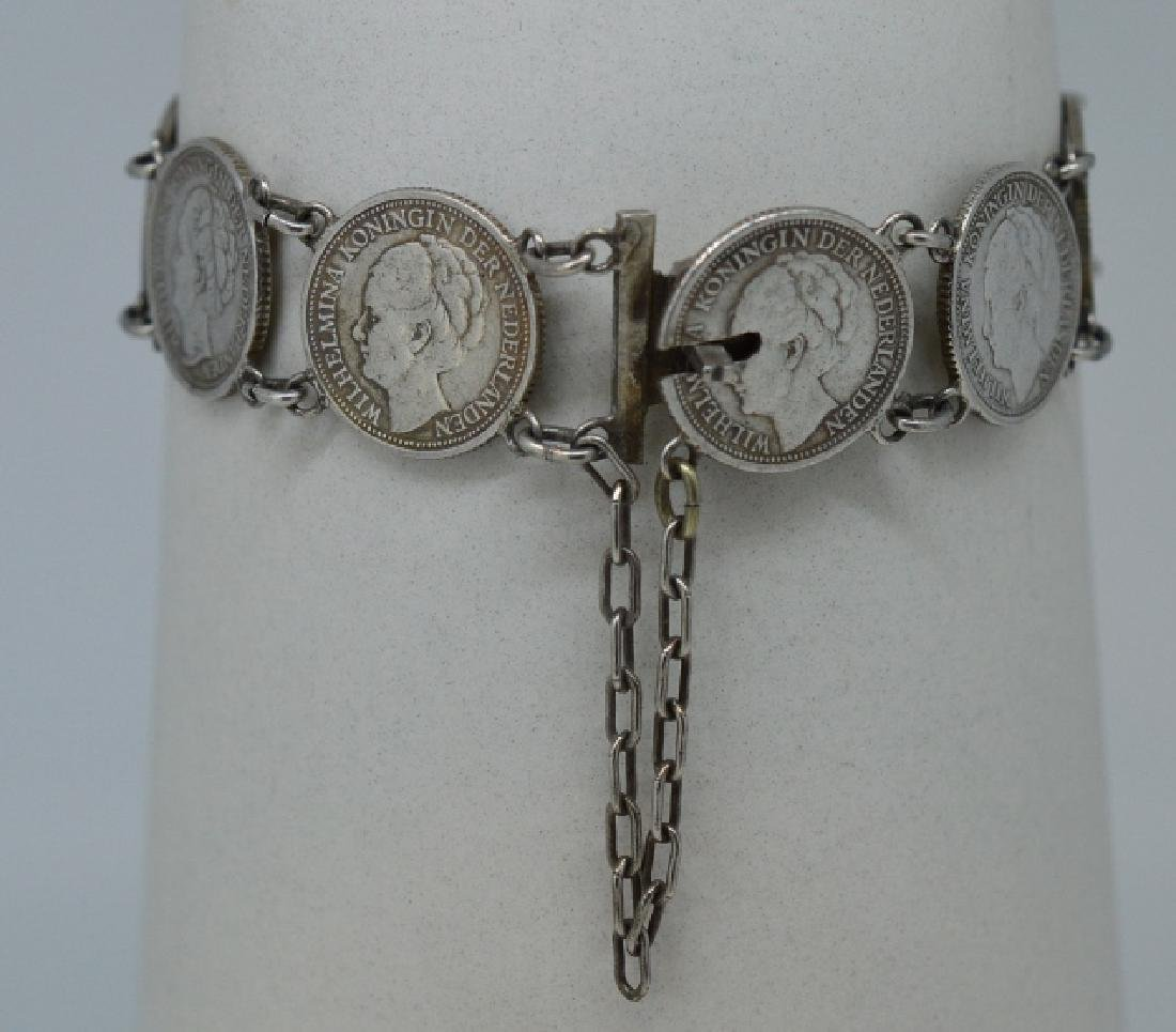 """Ladies 7"""" Silver plated coin Bracelet"""