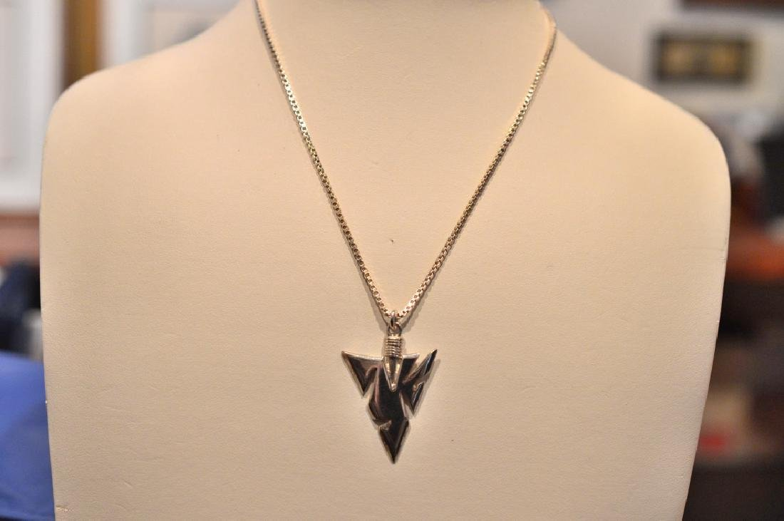 """16"""" Sterling Silver Chain with silver arrow head"""