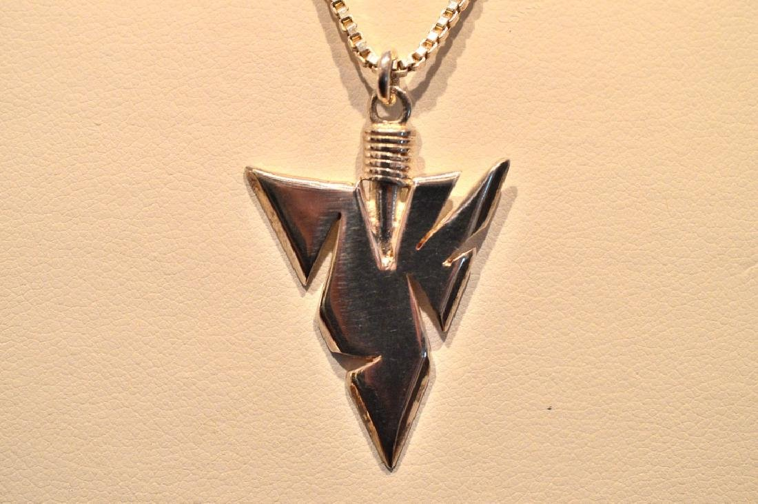 """16"""" Sterling Silver Chain with silver arrow head - 2"""