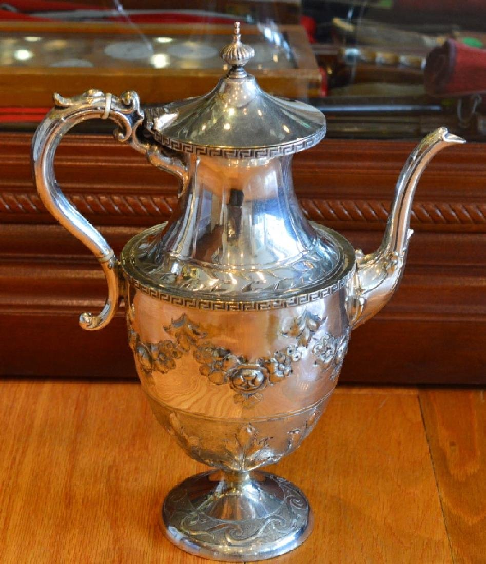 Vintage Electroplated Victorian Style Teapot