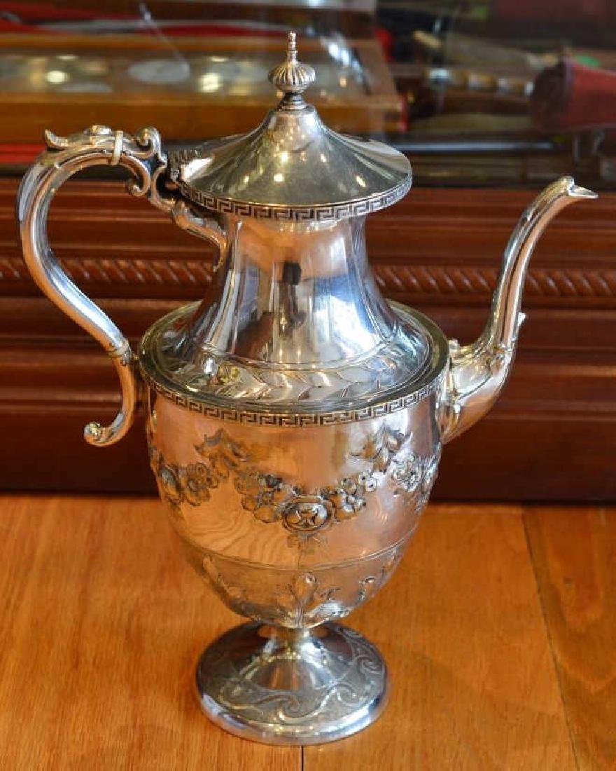 Vintage Electroplated Victorian Style Teapot - 3