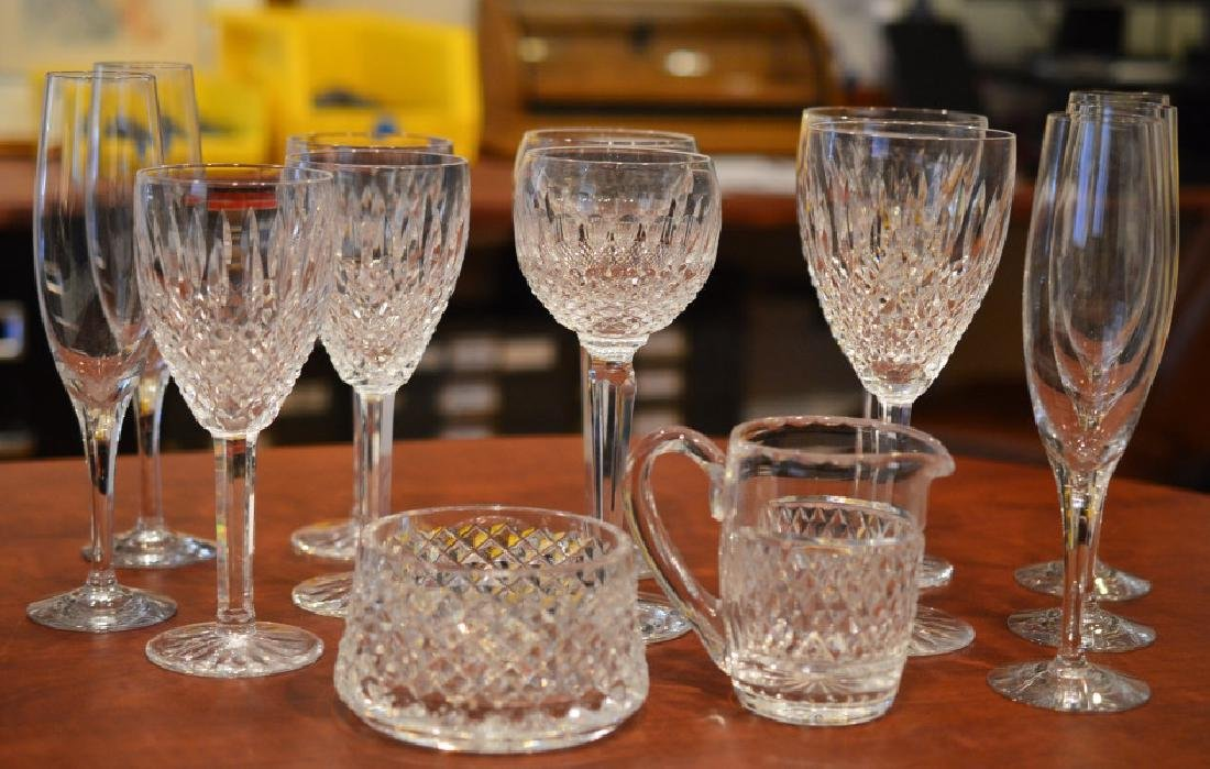 Lot of Mixed Waterford & Crystal Glasses