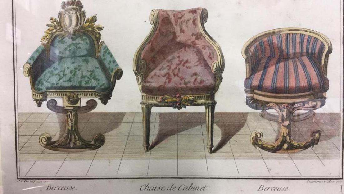 DE LAFOSSE Framed Lithograph France