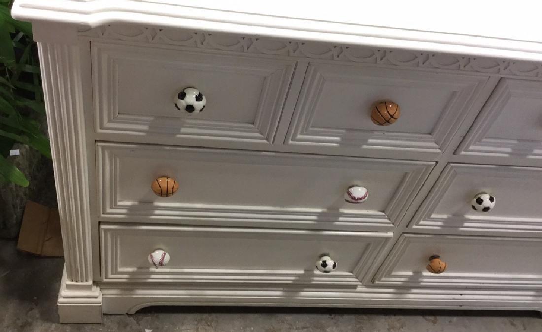 LEXINGTON White Wood Bedroom Dresser - 3