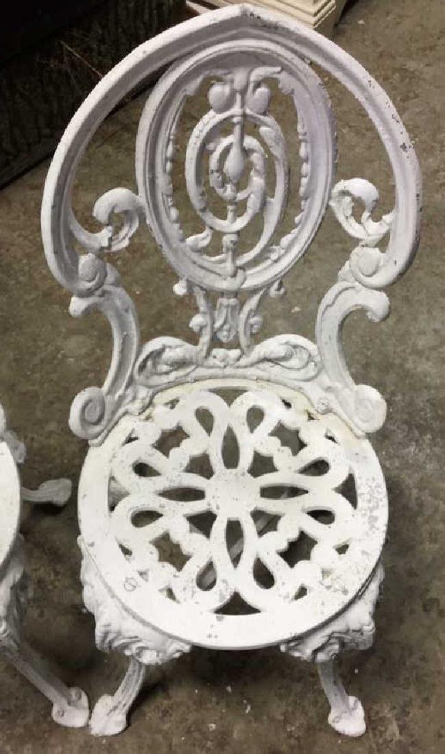 Pair Vintage Iron and Metal Garden Chairs - 2