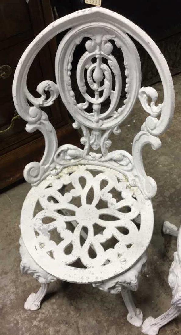 Pair Vintage Iron and Metal Garden Chairs - 3